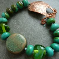 green celtic bracelet