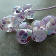 candyfloss frit lampwork glass beads