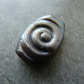 silver grey spiral focal lampwork glass bead
