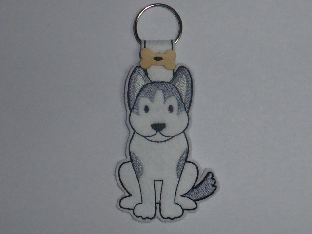 Husky Dog Keyring - Free UK P & P