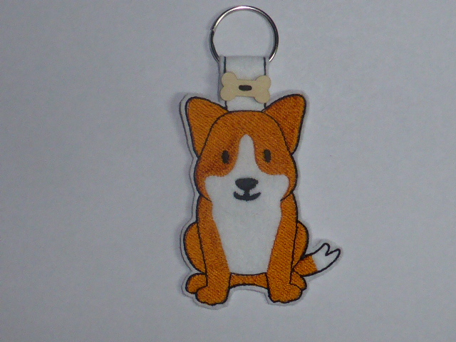 Cute Corgi Dog Keyring - Free UK P &P
