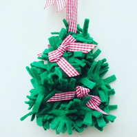 Christmas Tree Felt Hanging, Christmas Decoration, Felt Christmas Decor