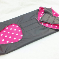 Dog Coat Polka Dot Fleece Lined in Pink