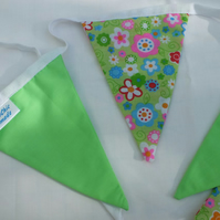 Lime Green Bunting Retro Style