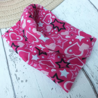 Dog Cowl Neck Dog Snood Pink for small Dog Heart Design