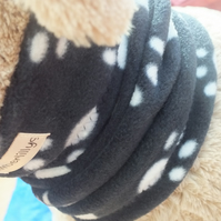 Paw Print Dog Neck Warmer Dog Cowl Small to Medium Dog