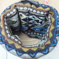 Small Aztec Design Dog Snood Neck warmer Dog Cowl