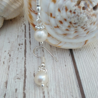 Small Pearl Drop Earrings Petite jewellery
