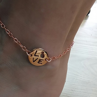 Rose Gold Plated Ankle Bracelet Anklet