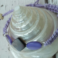 Purple Shell Braided bracelet