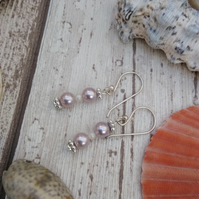 Shell Earrings in Lilac Lavender shade