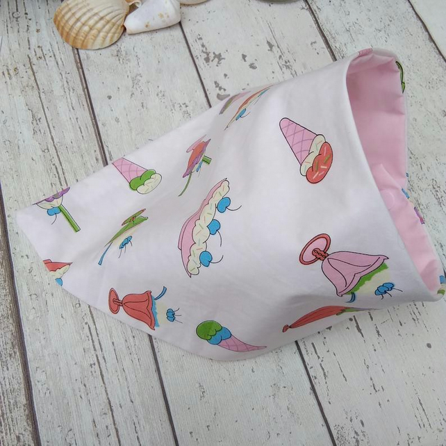 Dog Bandana Medium Ice Cream Sundae Snap Fastenings