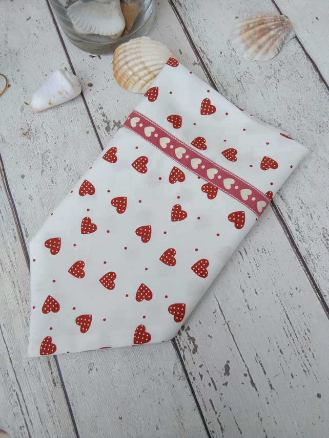 Dog Bandana over the collar Heart design Large