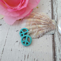 Peace Earrings Turquoise
