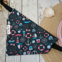Dog Bandana Over the Collar Nautical