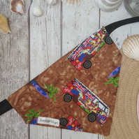 Dog Bandana Camper Van Over Collar Style