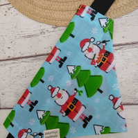 Christmas Dog Bandana Small Christmas Theme over the collar