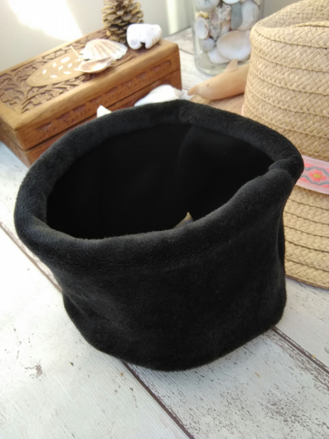 Small to medium Dog Snood Black