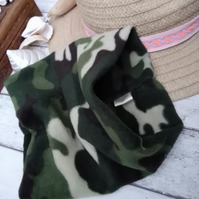 Small to Medium Dog Snood neck warmer camouflage