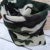 Small Dog Snood Camouflage Fleece