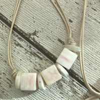 Shell Necklace with cord