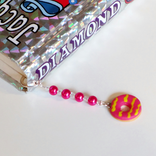 Retro Novelty Party ring bookmark Quirky, fun, unique, handmade, novel, classic