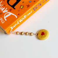 Retro Novelty Jammy Dodger bookmark Quirky, fun, unique, handmade novel