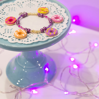Retro classic Iced Rings bracelet Quirky, fun, unique, handmade novel