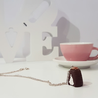 Retro Walnut Whip chocolate necklace OR keyring Quirky, unique, fun