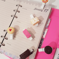 Classic biscuits pegs collection set of 6 - office, stationery, planner, diary