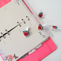 Watermelon fruit slice pegs collection set of 4 - stationery, planner, diary