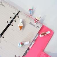 Sweet treat diner pegs collection set of 5 - stationery, planner, diary