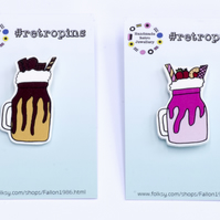 Retropins - Chocolate OR Strawberry Freakshake Pin