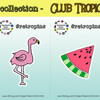 Retropins - Club Tropicana collection - CHOOSE