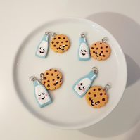 KAWAII Milk & Cookie necklace - handmade, unique, gift, cute