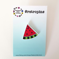 Retropins - Kawaii Watermelon slice shrink plastic pin