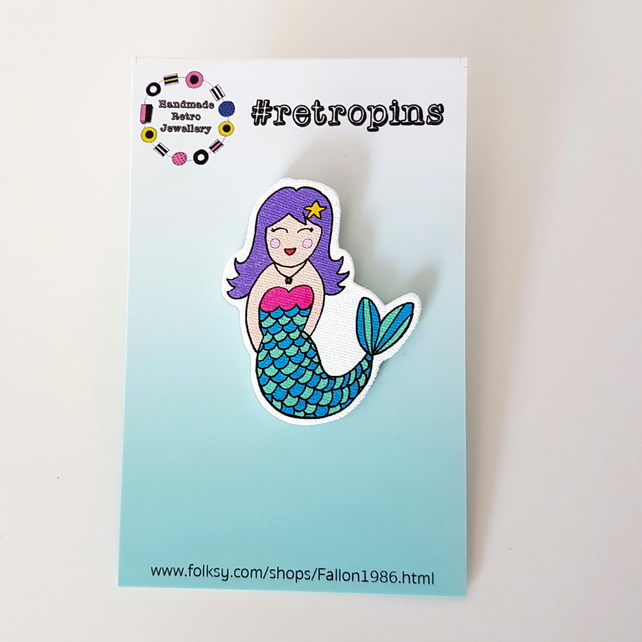 Retropins - Mermaid shrink plastic pin