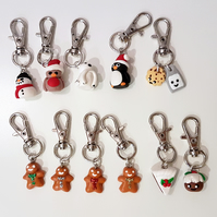 Christmas Themed planner charms, stitch markers,bag charms, ONE SUPPLIED