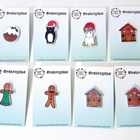 Retropins - Christmas themed pin ONE SUPPLIED