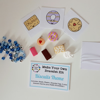 Make your own retro food themed bracelet kit BISCUIT THEME!