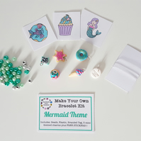 Make your own retro food themed bracelet kit MERMAID THEME!