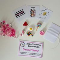 Make your own retro food themed bracelet kit SWEET THEME!