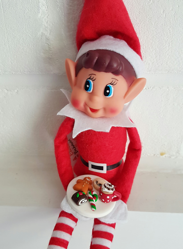 Elf on the Shelf Treat Plate, Christmas, kids, games