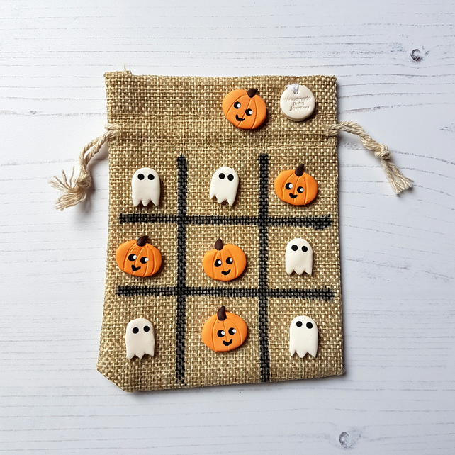 Halloween themed Tic Tac Toe, Pumpkins and Ghosts