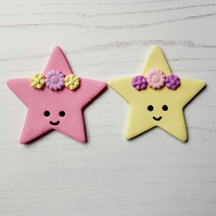 Lucky Star with flower crown, one supplied, hanging decoration