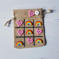 NEW VERSION rainbows and hearts Tic Tac Toe game