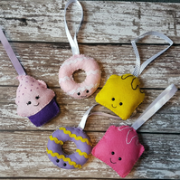 Felt food themed hanging decoration
