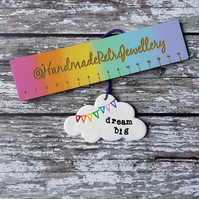 Dream Big Cloud with rainbow bunting hanging decoration