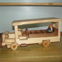 Wooden toy Coach