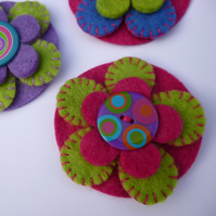 Funky Felt Flower Brooch - Perfect Mothers Day Gift
